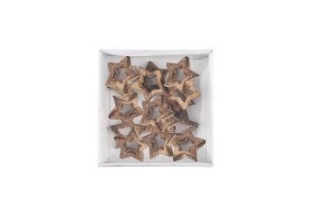 wooden star, thick, open