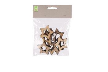 Holz-Sterne, dick, offen