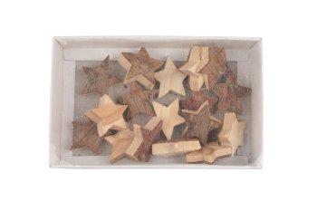 Rindenholz-Sterne