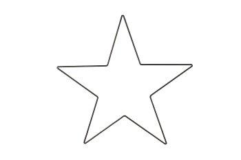 metal star, thin