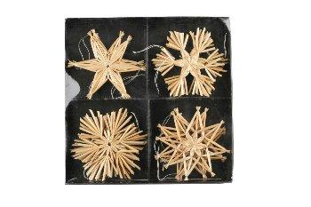 straw stars, 12pcs/box,assort.