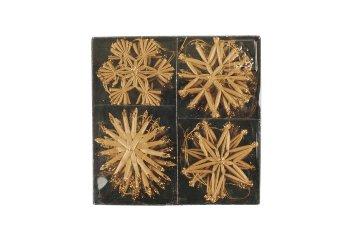 straw star assortment, 4pcs