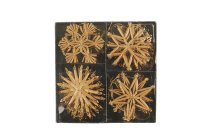 straw star assortment, 4pcs