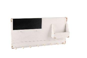 Antikholz-Garderobe mit Tafel und Fach